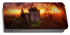 Portable Battery Charger featuring the photograph Sunset Over Castle Campbell In Scotland by Jeremy Lavender Photography