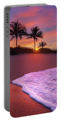 Sunset Over Coral Cove Park In Jupiter, Florida Portable Battery Charger