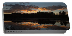 Sunset Over Cranberry Bogs Portable Battery Charger by Kenny Glotfelty
