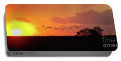 Sunset Over Easy Portable Battery Charger by Sue Stefanowicz