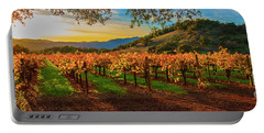 Sunset Over Gamble Vineyards Portable Battery Charger