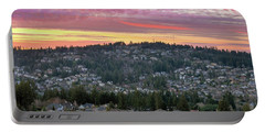 Sunset Over Happy Valley Residential Neighborhood Portable Battery Charger