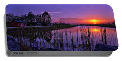Sunset Over Hungryland Wildlife Management Area Portable Battery Charger by Justin Kelefas