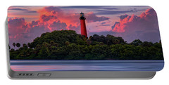 Sunset Over Jupiter Lighthouse, Florida Portable Battery Charger