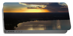 Portable Battery Charger featuring the photograph Sunset Over Lake by Carolyn Marshall