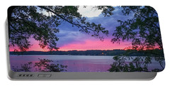 Sunset Over Lake Cherokee Portable Battery Charger