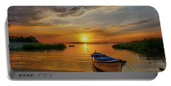 Sunset Over Lake Portable Battery Charger