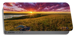 Sunset Over Lake Oahe Portable Battery Charger