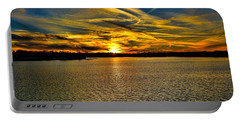 Sunset Over Lake Palestine Portable Battery Charger