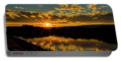 Sunset Over Lake Weiss Portable Battery Charger