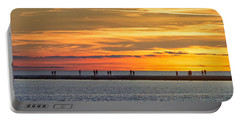 Portable Battery Charger featuring the photograph Sunset Over Ludington Panoramic by Adam Romanowicz