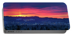 Sunset Over Marquam Hill Portable Battery Charger