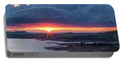 Sunset Over Millerton Lake  Portable Battery Charger