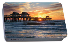 Portable Battery Charger featuring the photograph Sunset Over Naples Pier by Brian Jannsen