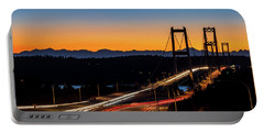 Sunset Over Narrrows Bridge Panorama Portable Battery Charger by Rob Green