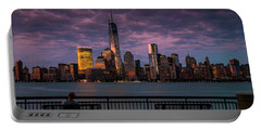 Sunset Over New World Trade Center New York City Portable Battery Charger