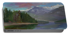 Sunset Over Priest Lake, Id Portable Battery Charger