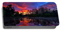Sunset Over Riverbend Park In Jupiter Florida Portable Battery Charger
