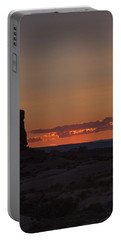 Sunset Over Rock Formation Portable Battery Charger