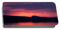 Sunset Over Sabao Portable Battery Charger
