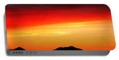 Sunset Over Santa Fe Mountains Portable Battery Charger by Joseph Frank Baraba