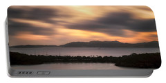 Portable Battery Charger featuring the photograph Sunset Over St. John And St. Thomas Panoramic by Adam Romanowicz