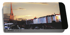 Portable Battery Charger featuring the photograph Sunset Over St Mary Redcliffe Bristol by Terri Waters