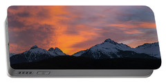 Sunset Over Tantalus Range Panorama Portable Battery Charger