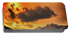 Portable Battery Charger featuring the photograph Sunset Over The Alps by Silvia Ganora
