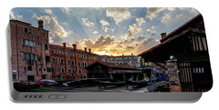 Sunset Over The Gondola Shop In Venice Portable Battery Charger