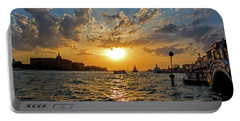 Sunset Over The Grand Canal In Venice Portable Battery Charger