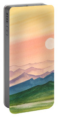 Sunset Over The Hills Portable Battery Charger