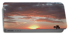 Sunset Over The Mara Portable Battery Charger