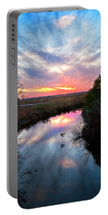 Sunset Over The Marsh Portable Battery Charger