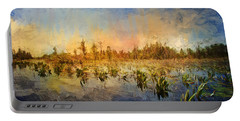Sunset Over The Okefenokee Portable Battery Charger