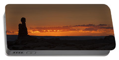 Sunset Over The Petrified Dunes Portable Battery Charger