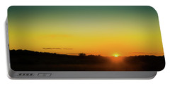 Sunset Over The Prairie Portable Battery Charger