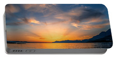 Sunset Over The Sea Portable Battery Charger by Lana Enderle