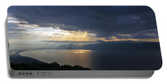 Sunset Over The Sea Of Galilee Portable Battery Charger