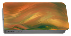 Sunset Over The Sea Of Worries Portable Battery Charger by Giada Rossi