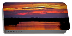 Sunset Over The Tomoka Portable Battery Charger by DigiArt Diaries by Vicky B Fuller