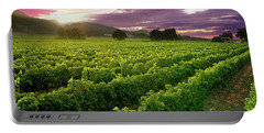 Sunset Over The Vineyard Portable Battery Charger