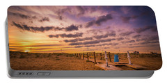 Sunset Over The Walkway. Portable Battery Charger