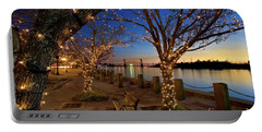 Sunset Over The Wilmington Waterfront In North Carolina, Usa Portable Battery Charger