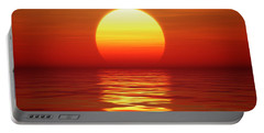 Sunset Over Tranqual Water Portable Battery Charger