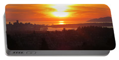 Sunset Over Vancouver Portable Battery Charger