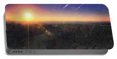 Portable Battery Charger featuring the photograph Sunset Over Wisconsin Treetops At Lapham Peak  by Jennifer Rondinelli Reilly - Fine Art Photography