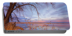 Portable Battery Charger featuring the photograph Sunset Overhang by Darren White