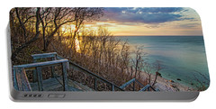 Sunset Overlooking Long Island Sound Portable Battery Charger