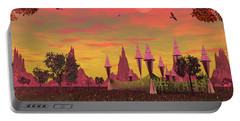 Portable Battery Charger featuring the photograph Sunset Palace  by Mark Blauhoefer